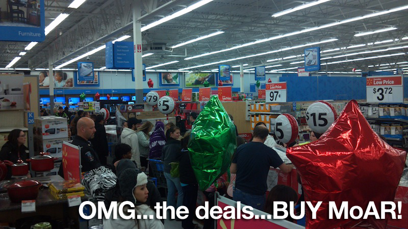 Crazy Walmart Christmas Shopping